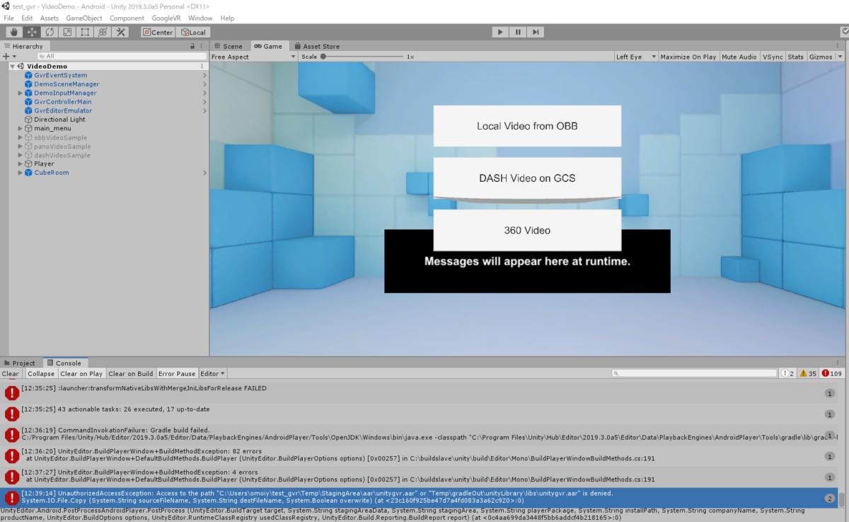 VR:Unity空間内をDayDreamコントローラーで歩く1(見る価値なし)