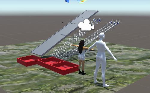VR:オブジェクトの重力落下、衝突、再実体化、破壊